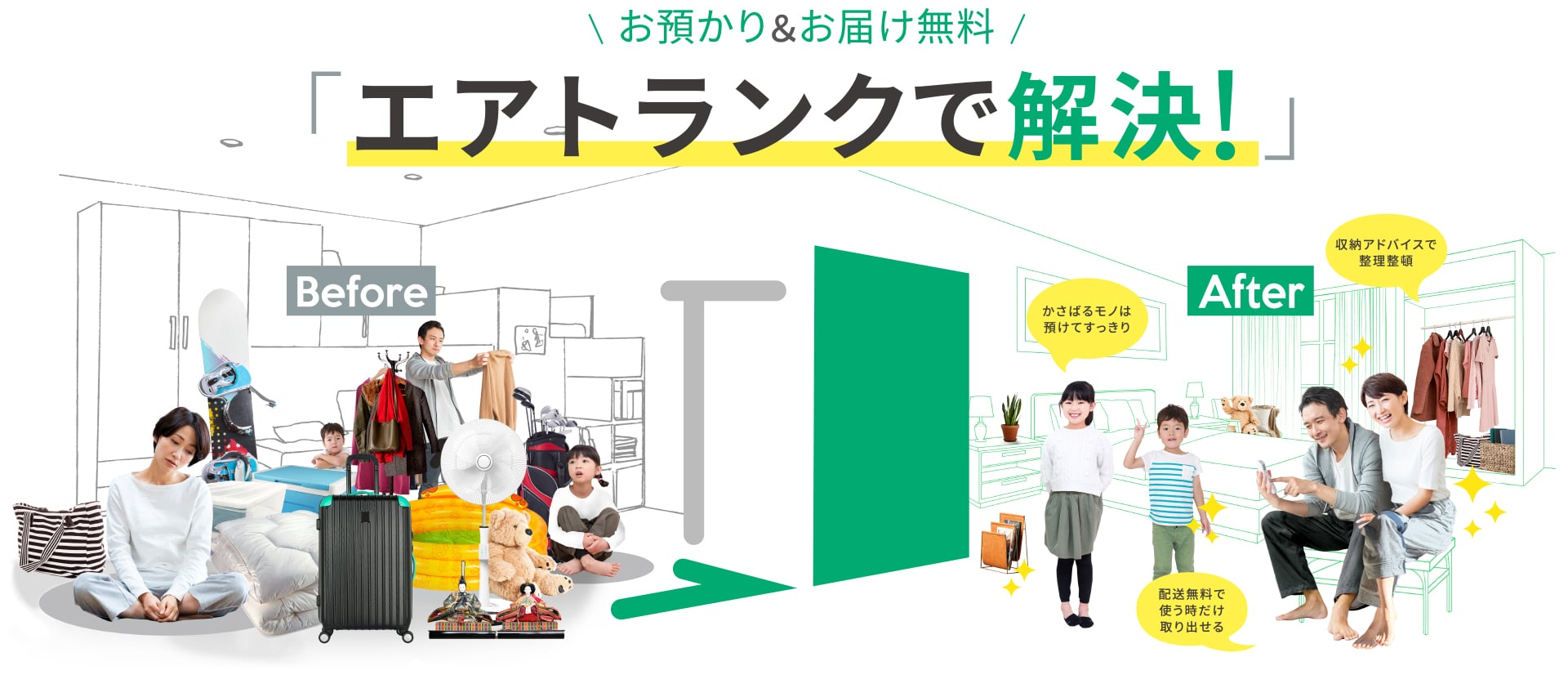 お預り&お届け無料の宅配型トランクルーム|AIR TRUNK【エアトランク】